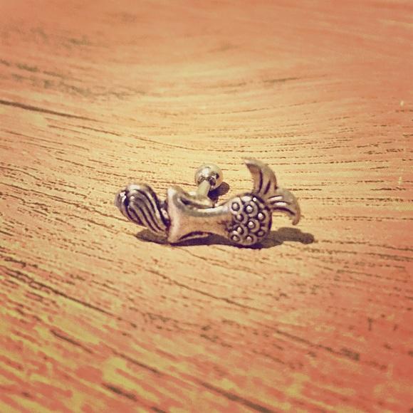 "Silver Mermaid Cartilage Piercing Tragus Earring Captive 16 Gauge 1//4/"" Barbell"